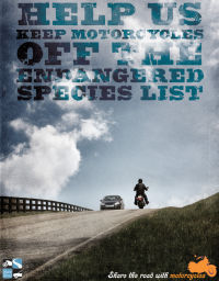 US DOT Motorcyclists Endangered Species Poster