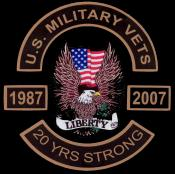 US Military Vets MC 20 Years Strong Logo